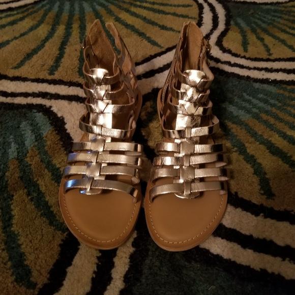 3ae44dad40 ASOS Shoes | Hot Stuffnwot Foz Leather Gladiators | Poshmark